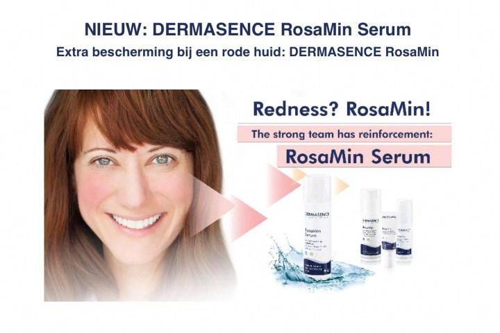 Rosacea, couperose, roodheid, huid, Dermasence, nieuw, Rosamin, PR, pers, beautysome