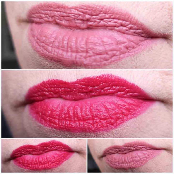 Full, satin, lipsticks, subtiel, glans, rood, roze, lips, review, catrice