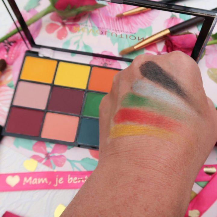Revolution, marvellous, mattes, oogschaduw, eyeshadow, palette, beauty, makeup, bright, colors
