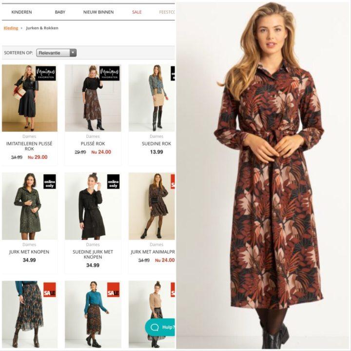Ter Stal, mode, jurk, rok, model, plussize, groen, Animal, print, legging, laarzen