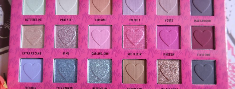 2 ME, LUV ME, nyx, Cosmetics, oogschaduw, eyeshadow, palette, love, Valentijn, review, beautysome, swatch,