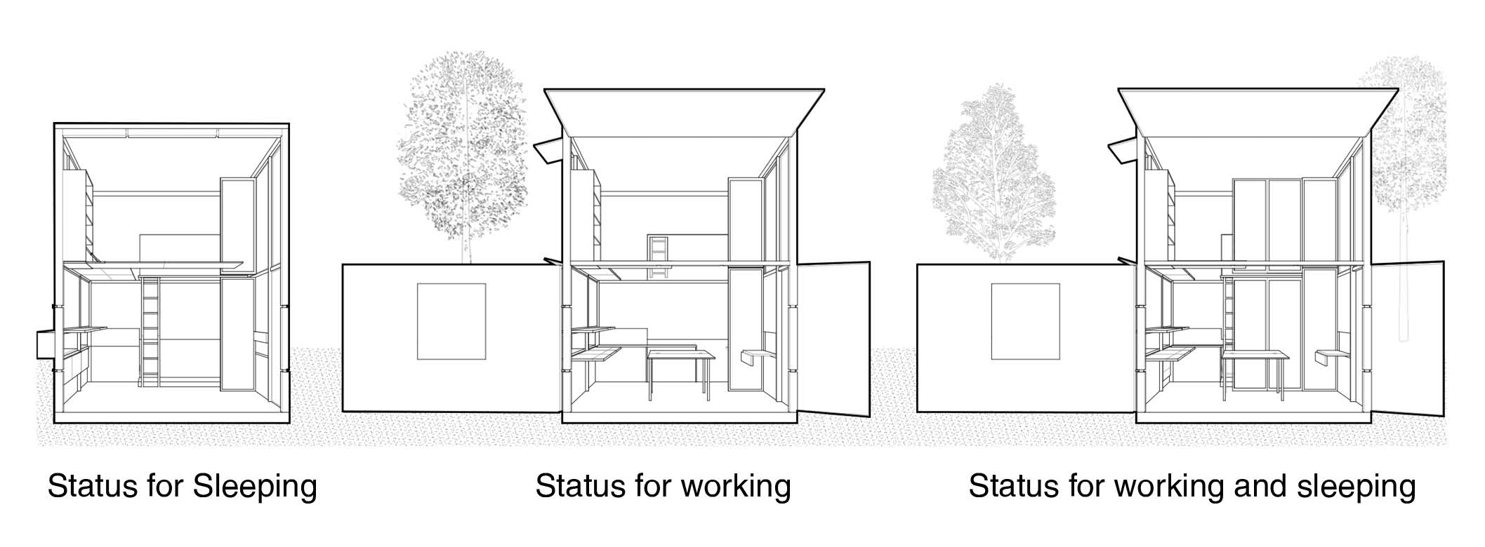 Flexible Tiny Space For Architecture Students Yu Zhang