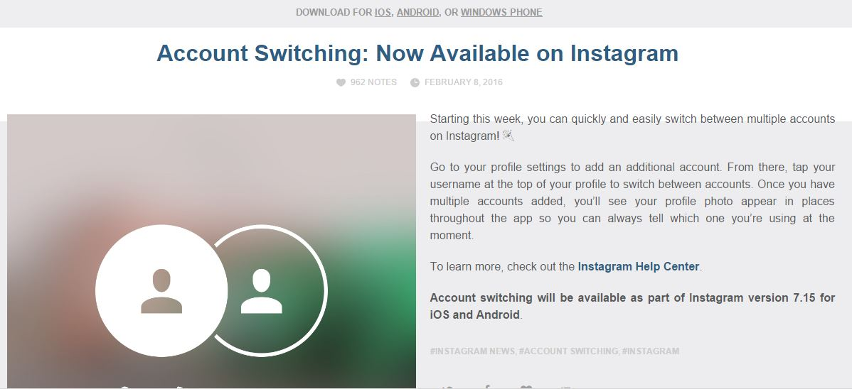 Fitru Switch Multiple Account di Instagram Aktif Hari Ini