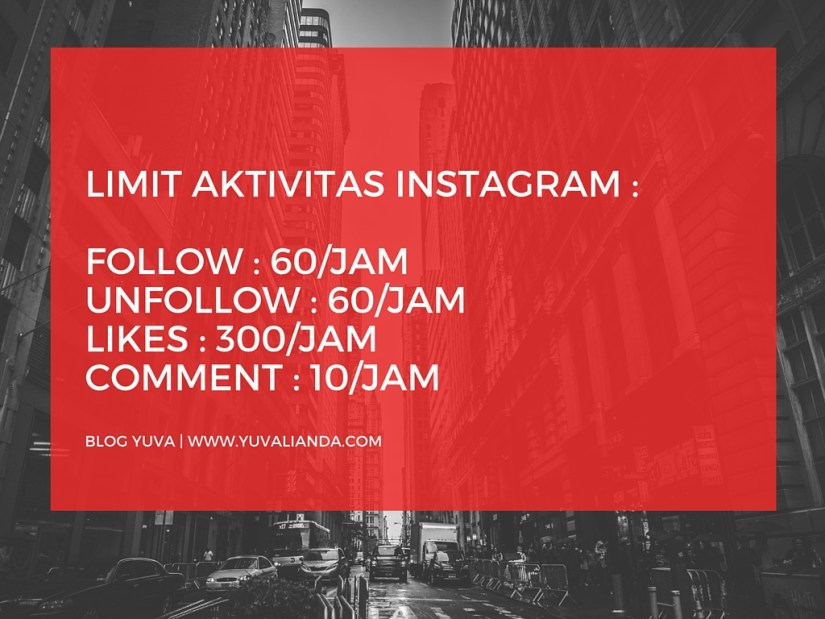 Limit Aktivitas Instagram