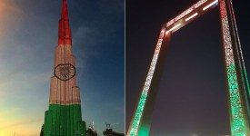 UAE Tour - Burj Khalifa and Dubai frames in the Tricolor