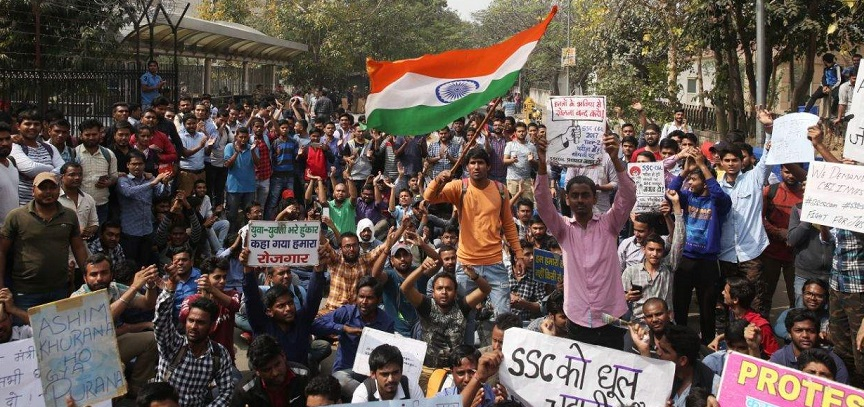 SSC scam protest