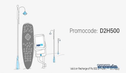 PAYTM-Rs. 200 cashback on DTH Recharges of Rs 1000-DTH