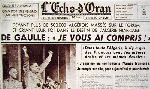 """De Gaulle en Algérie : """"Je vous ai compris"""""""