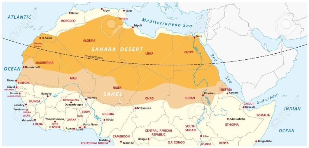 carte du Sahel