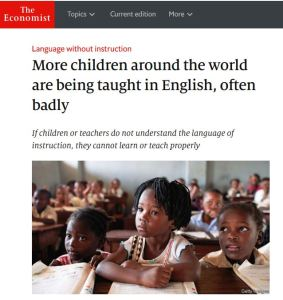More children around the world are being taught in English, often badly - The Economist