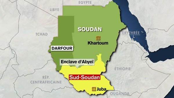 Carte du Soudan et du Soudan Sud par Anti-K