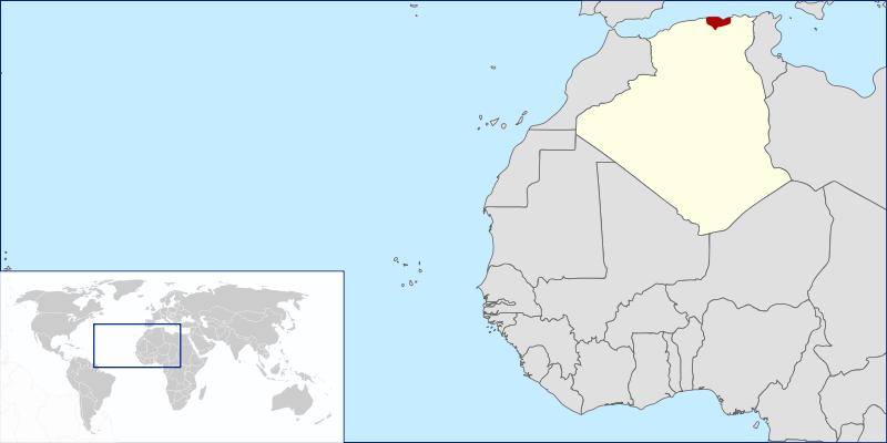 Situer la Kabylie en Afrique ?