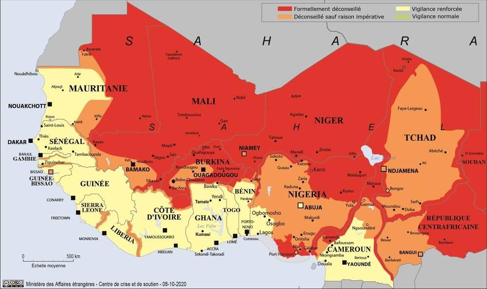 Conseils aux voyageurs; Sécurité au Sahel Ministère des Affaires étrangères - 8 oct 2020