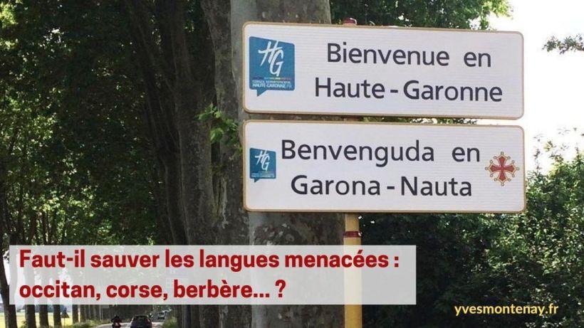 Faut il sauver les langues menacées