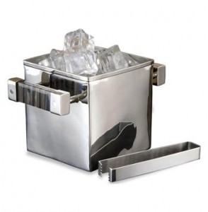 Mora-Contemporary-Horn-Silver-Square-Ice-Bucket-and-Tongs-887