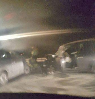 Le due auto protagoniste dell'incidente