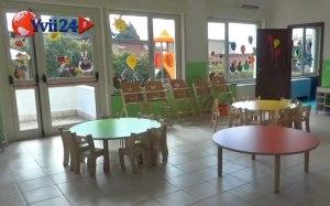 L'interno dell'asilo nido Aylan Kurdi di Adrano