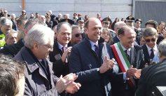 """Adrano, il Ministro dell'Interno Angelino Alfano dopo il taglio del nastro inaugurale all'asilo nido """"Aylan"""""""
