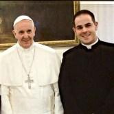 Don Pasqualino Di Dio insieme a Papa Francesco