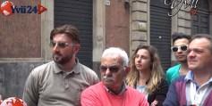 I commercianti di via Vittorio Emanuele a Biancavilla