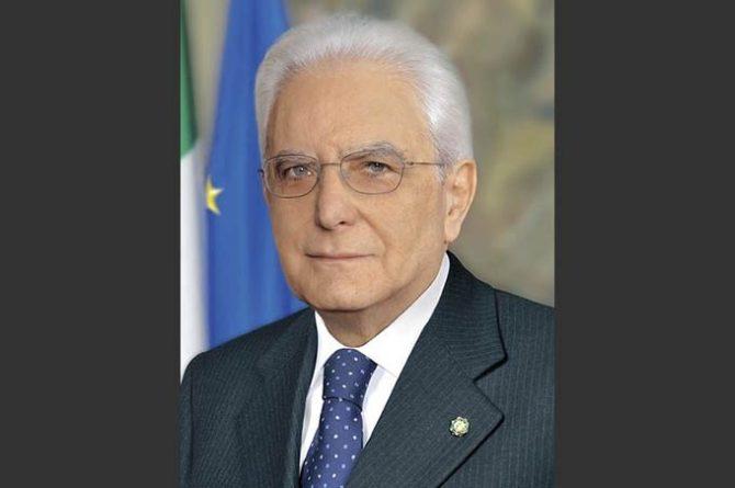Il Presidente della Repubblica Sergio Mattarella - Foto Presidenza della Repubblica Italiana