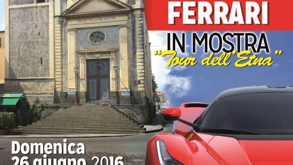 """Belpasso, Ferrari in mostra per il """"Tour dell'Etna"""""""