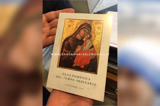 In copertina l'immagine della Madonna dell'Elemosina di Biancavilla - Foto di Giovanni Stissi