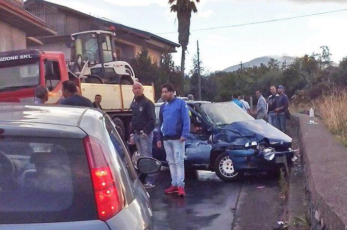 Santa Maria di Licodia, incidente su Via De Gasperi