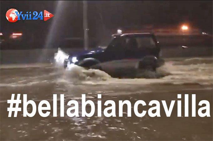 #bellabiancavilla, purché non piova