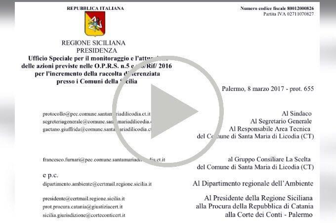 """Santa Maria di Licodia: """"taroccati"""" i dati sulla differenziata"""