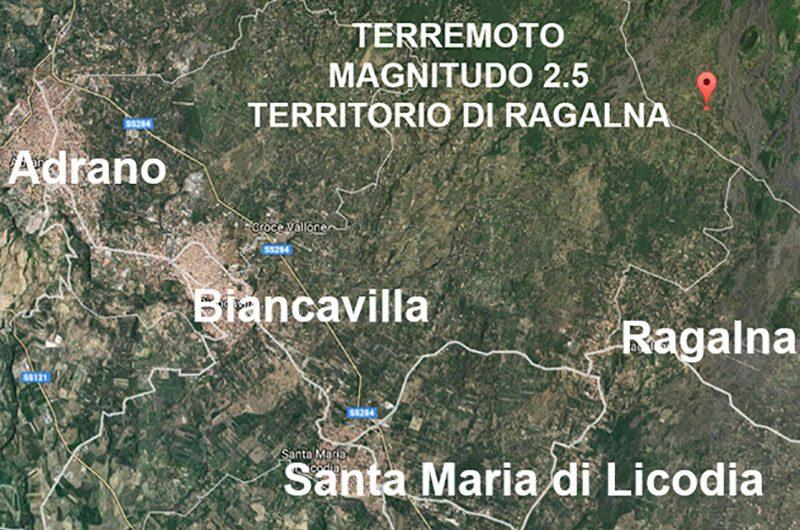 Ragalna: due scosse di terremoto nel pomeriggio
