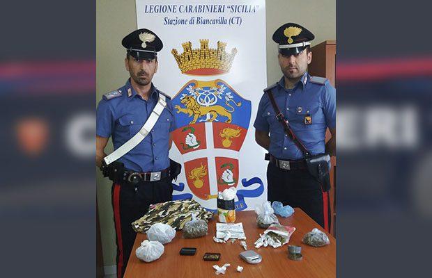 Biancavilla, spacciavano a casa: due arresti