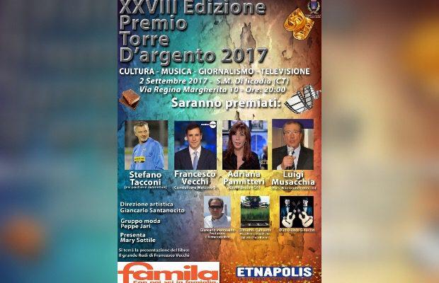 """Santa Maria di Licodia, domani la XXVIII edizione del premio """"Torre d'argento"""""""