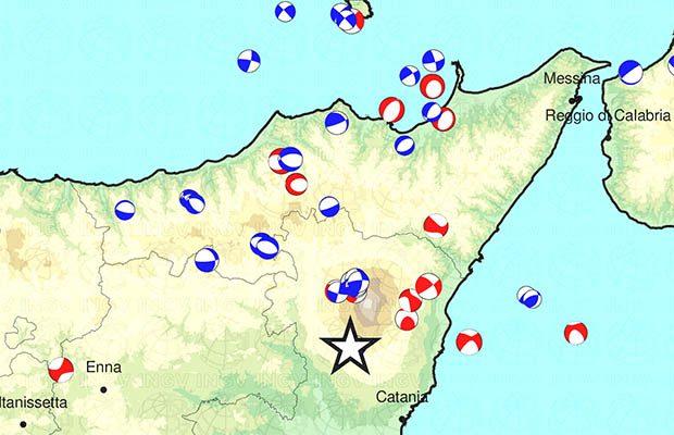 Ragalna: nuova sequenza sismica all'alba di oggi
