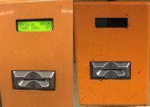 Macchinette obliteratrici - a sinistra Licodia Sud a destra Licodia Centro