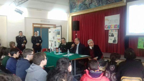"""Santa Maria di Licodia, ieri alla """"Don Bosco"""" l'evento """"legalità in briciole"""""""