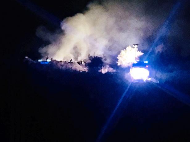 Santa Maria di Licodia, incendio sulla strada Poggio dell'Aquila