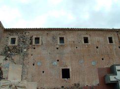 Il prospetto ovest del convento dei Cappuccini