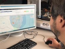 Dettaglio della localizzazione dei sismi