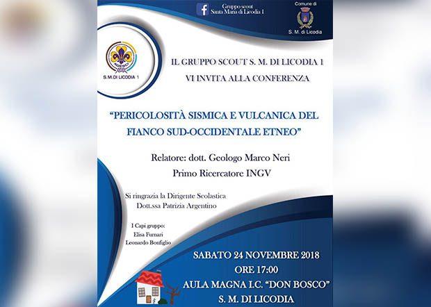 """Santa Maria di Licodia. Oggi conferenza sulla """"Pericolosità sismica e vulcanica del fianco sud-occidentale etneo"""""""