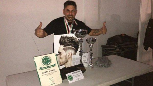 """Santa Maria di Licodia. Il barber Cangemi tra i primi classificati al """"Barber ring"""""""