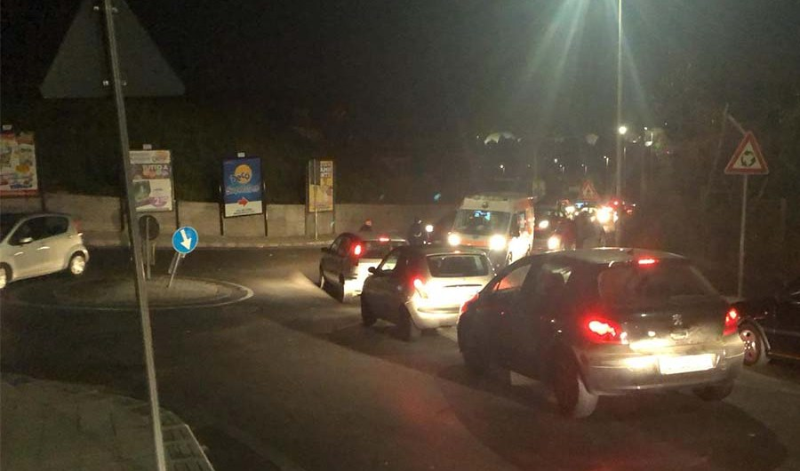 Adrano. Incidente autonomo in via San Paolo