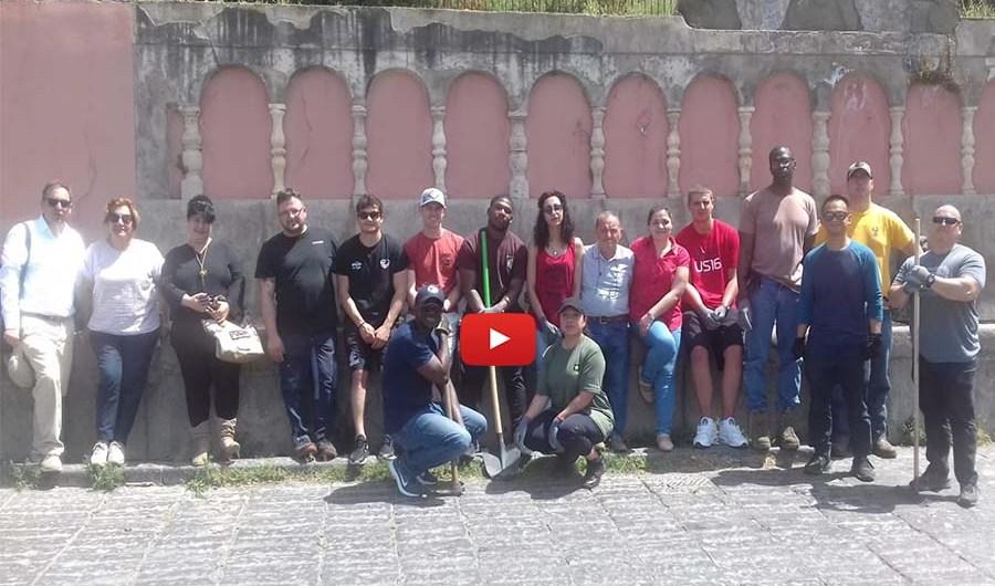 Adrano-Santa Maria di Licodia. Militari Usa ripuliscono due aree storiche
