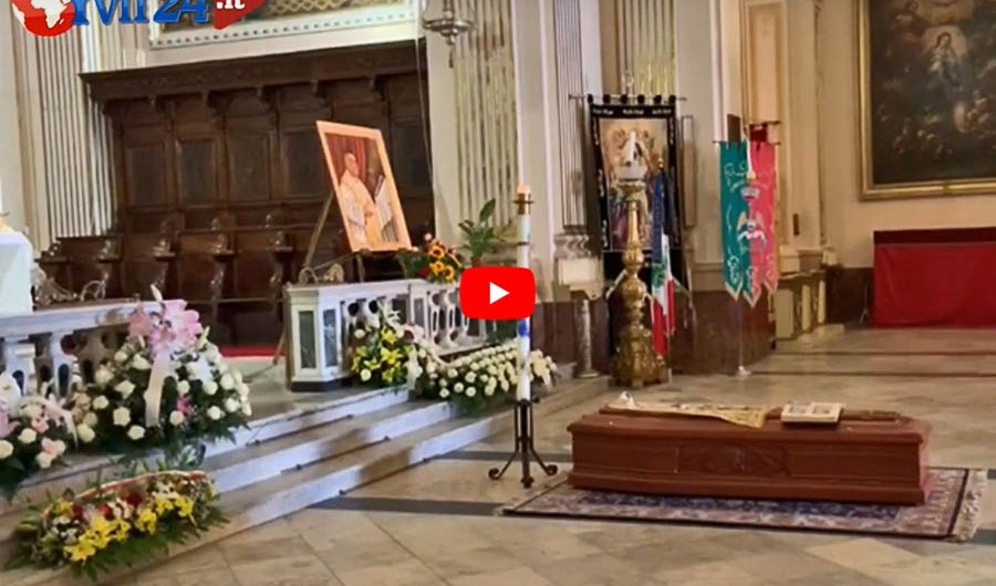 Belpasso, l'estremo saluto a monsignor Francesco Mio