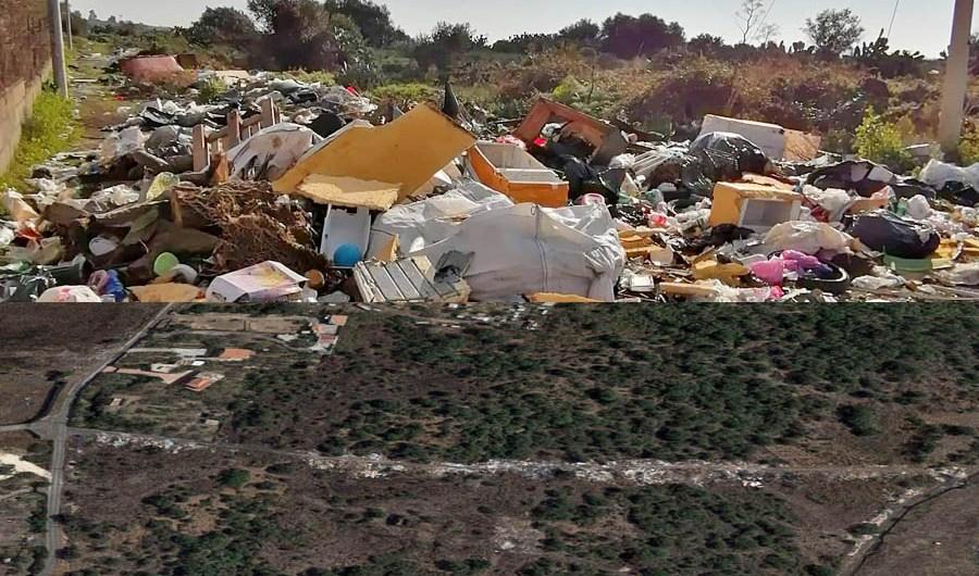 Belpasso. In Contrada Vignale strade non percorribili per i rifiuti presenti