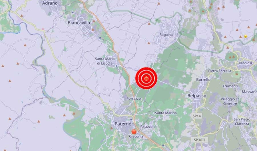 Terremoto. Due scosse a Santa Maria di Licodia e Paternò