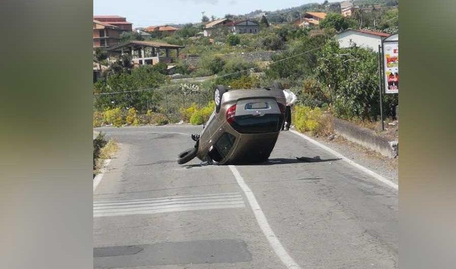 Incidente autonomo tra Santa Maria di Licodia e Biancavilla