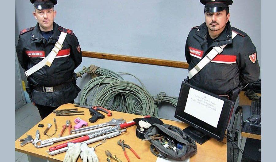 Castiglione di Sicilia, arrestato paternese per furto di rame