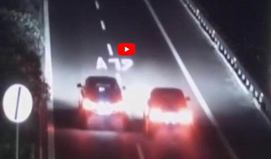 """Corsa clandestina sull'A19: denunciati i """"piloti"""", sequestrate le auto (VIDEO)"""