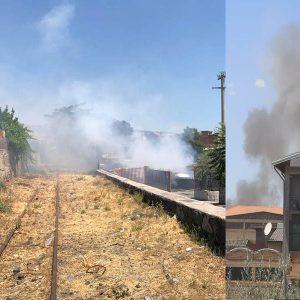 Biancavilla, doppio incendio in via della Montagna e in via Solaris